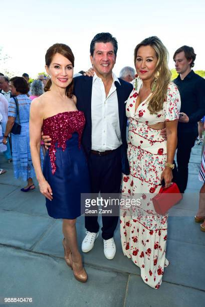 Jean Shafiroff Bill Ford and Marigay McKee attend Jean And Martin Shafiroff Host Cocktails For Stony Brook Southampton Hospital on June 30 2018 in...