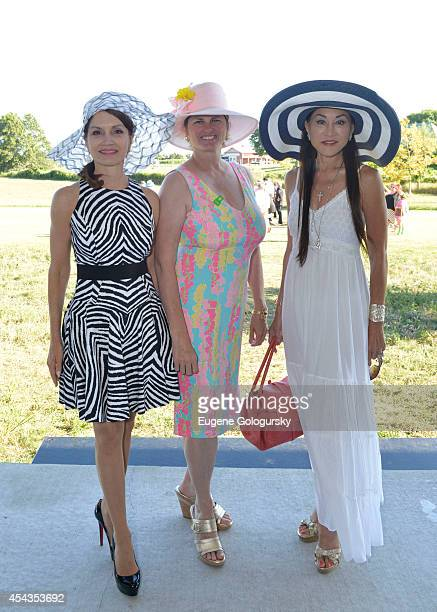 Jean Shafiroff Bonnie Comley and Lucia Hwong Gordon attend the Naming Celebration For Stewart F Lane Bonnie Comley Event Lawn at the Parrish Art...