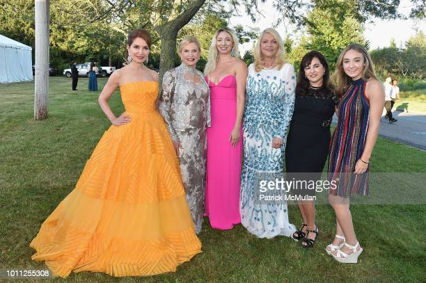 Jean Shafiroff Carolyn Maloney Andrea Catsimatidis Margot Catsimatidis Wendy Mosley and Charlotte Mosley attend the 60th Annual Summer Party For...