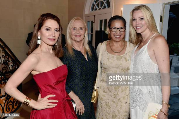 Jean Shafiroff Cornelia Bregman Elsie McCabe Thompson and Leah Rumbough attend Katrina and Don Peebles Host NY Mission Society Summer Cocktails at...
