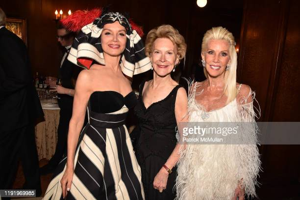 Jean Shafiroff Elizabeth Stribling and CeCe Black attend French Heritage Society's New York Gala The Black White Ball at Private Club on November 21...
