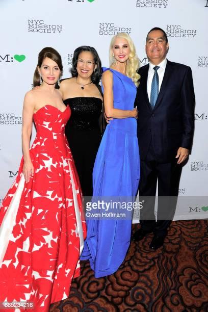 Jean Shafiroff Elsie McCabe Thompson Katrina Peebles and Don Peebles attend 2017 Champion For Children Gala at Mandarin Oriental on April 5 2017 in...