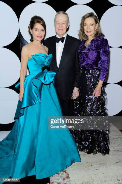 Jean Shafiroff Frederick Koch and Margo Langenberg attend The School of American Ballet's 2017 Winter Ball at David H Koch Theatre on March 6 2017 in...
