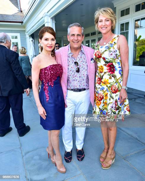 Jean Shafiroff Greg D'Elia and Malanie Wambold attend Jean And Martin Shafiroff Host Cocktails For Stony Brook Southampton Hospital on June 30 2018...