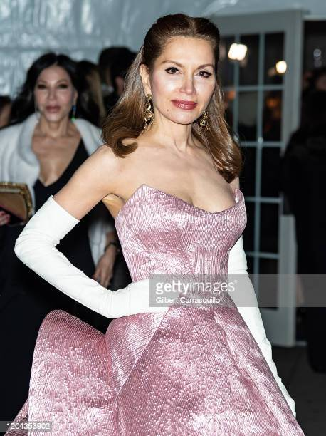 Jean Shafiroff is seen arriving to the 2020 amfAR New York Gala at Cipriani Wall Street on February 05, 2020 in New York City.