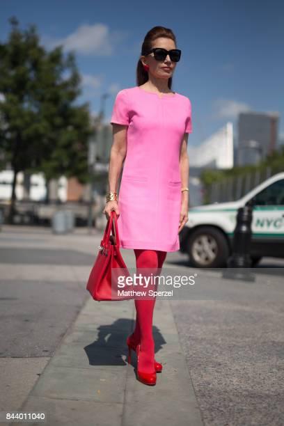 Jean Shafiroff is seen attending Malan Breton during New York Fashion Week wearing Hermes on September 7 2017 in New York City