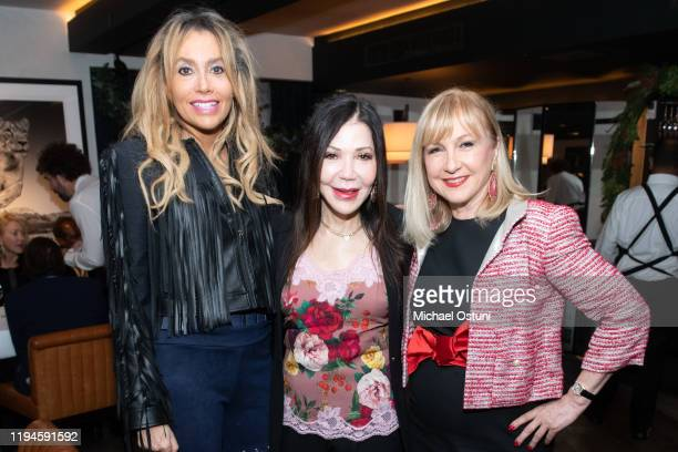 Jean Shafiroff Jane Scher and Katlean De Monchy attend Jean Shafiroff 2019 Holiday Luncheon at Omar's at Vaucluse on December 17 2019 in New York City