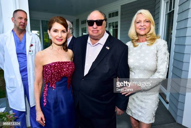 Jean Shafiroff John Catsimatidis and Margo Catsimatidis attend Jean And Martin Shafiroff Host Cocktails For Stony Brook Southampton Hospital on June...