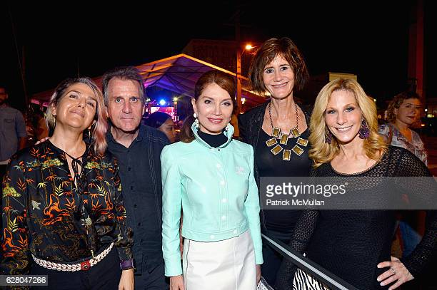 Jean Shafiroff Lee Fryd Randi Schatz and Guests attend the Patricia Field Art Basel Debut with Art Fashion Pop Up and Runway Presentation at The...