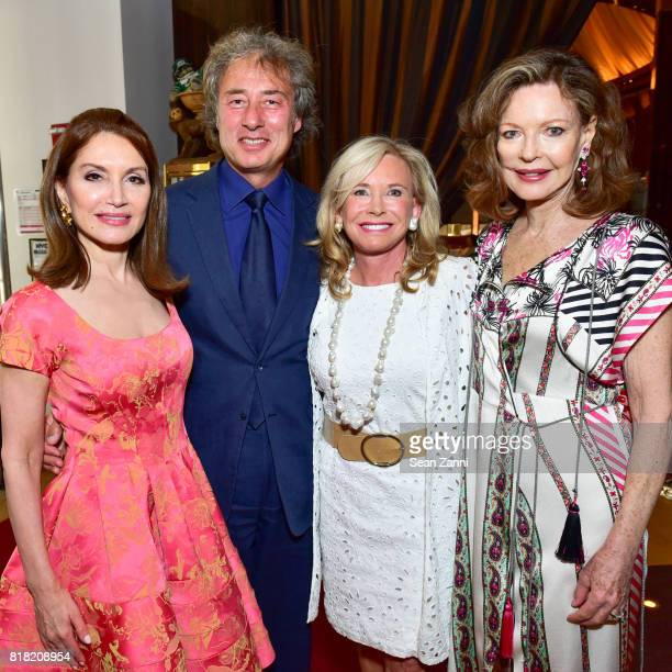 Jean Shafiroff Marco Maccioni Sharon Bush and Margo Langenberg attend Bastille Day Party Hosted by Jean Shafiroff at Le Cirque on July 13 2017 in New...