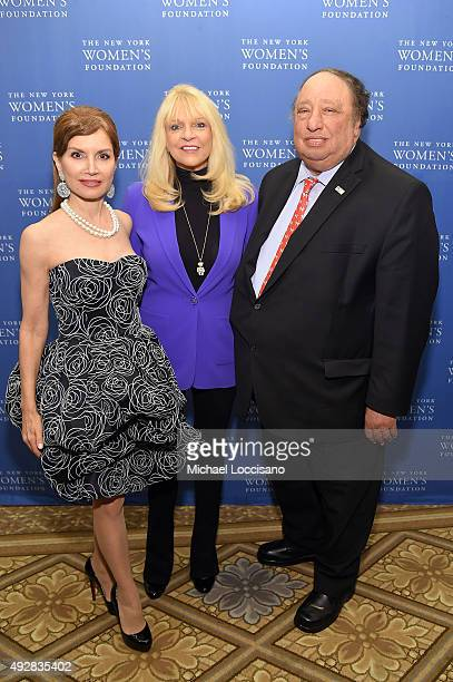 Jean Shafiroff Margo Catsimatidis and John Catsimatidis attend New York Women's Foundation hosts Annual Fall Gala at The Plaza on October 15 2015 in...