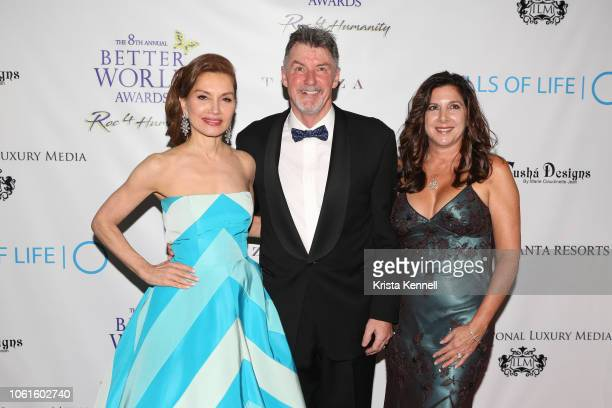 Jean Shafiroff Nick Jordan and Michelle Jordan at Jean Shafiroff and Harry Benson among the Honorees for The Better World Awards Benefiting Wells of...