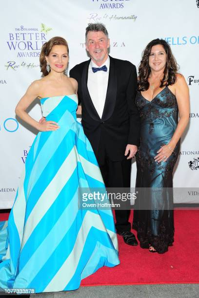 Jean Shafiroff Nick Jordan and Michelle Jordan attend Wells Of Life Charity Benefits At The 8th Annual Better World Awards Event Roc4Humanity at The...