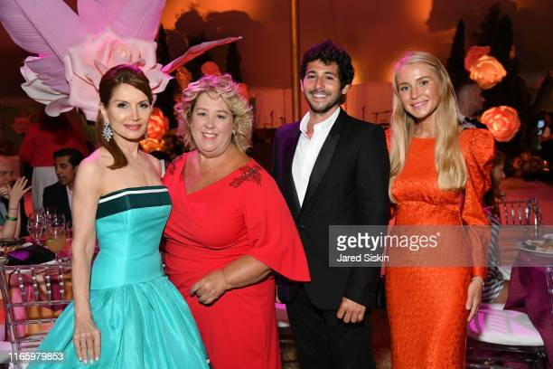Jean Shafiroff Rebecca Seawright Jesse Warren and Martyna Sokol attend the Annual Summer Party Benefiting Stony Brook Southampton Hospital on August...