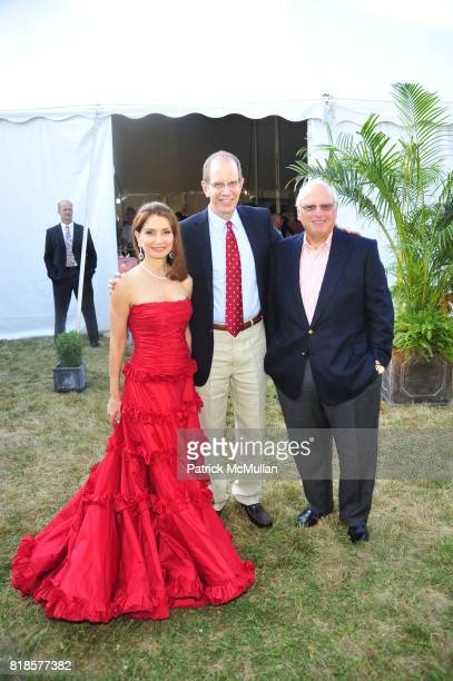 Jean Shafiroff Robert Chaloner and Howard Lorber attend AN ENCHANTED EVENING Southampton Hospital's 52nd Annual Summer Party at Wickapogue Road on...