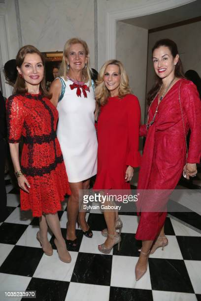 Jean Shafiroff Ruth Miller Randi Schatz and Natalie Ross attend Jean Shafiroff Hosts Cocktails For New York Women's Foundation at Private Residence...