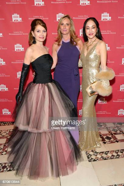 Jean Shafiroff Sonja Morgan and Lucia Hwong Gordon attend LNHN Honours Geoffrey Bradfield and John Manice at Cipriani 42nd Street on April 18 2017 in...