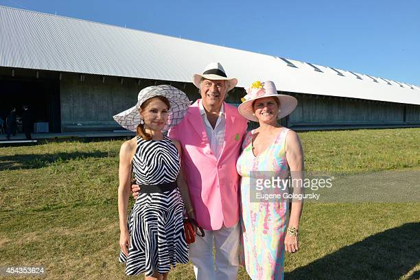 Jean Shafiroff Stewart FLane and Bonnie Comley attend the Naming Celebration For Stewart F Lane Bonnie Comley Event Lawn at the Parrish Art Museum on...