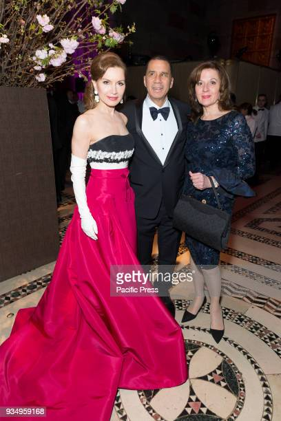 Jean Shafiroff wearing dress by Carolina Herrera David Patterson attend Endometriosis Foundation of America 9th Annual Blossom Ball at Cipriani 42nd...