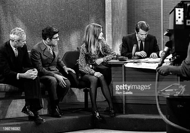 Jean Shrimpton attends the taping of 'The Merv Griffin Show' on January 9 1969 at CBS TV Studios in Los Angeles California