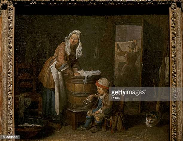 Jean Simeon Chardin French painter The Washerwoman National Museum Stockholm Sweden