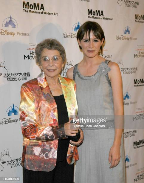 Jean Simmons and Emily Mortimer during Howl's Moving Castle New York City Premiere at The Museum of Modern Art in New York New York United States