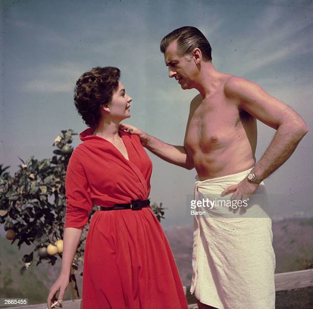 Jean Simmons with actor Stewart Granger