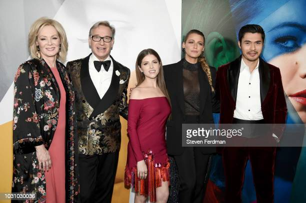 Jean Smart Paul Feig Anna Kendrick Blake Lively and Henry Golding attend the New York premier of A Simple Favor at Museum of Modern Art on September...