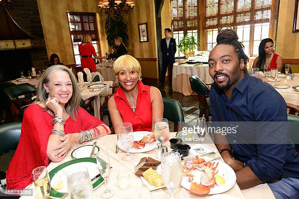 Jean Sommerville Jennifer Thompson and Lamoh Hicks attend Ladies Champagne Caviar Luncheon hosted by Dorys Erving at Aronimink Golf Club on September...