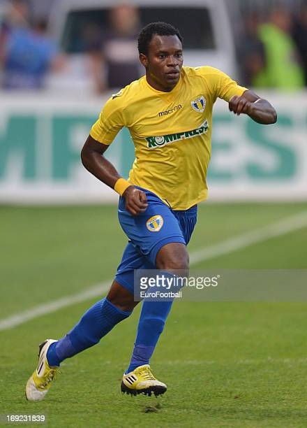 Jean Sony Alcenat of FC Petrolul Ploiesti in action during the Romanian First Division match between FC Petrolul Ploiesti and FC Astra Ploiesti held...
