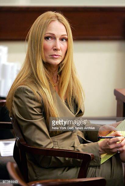 Jean Strahan wife of New York Giants' defensive end Michael Strahan sits in Essex County Family Court in Newark NJ during divorce proceedings