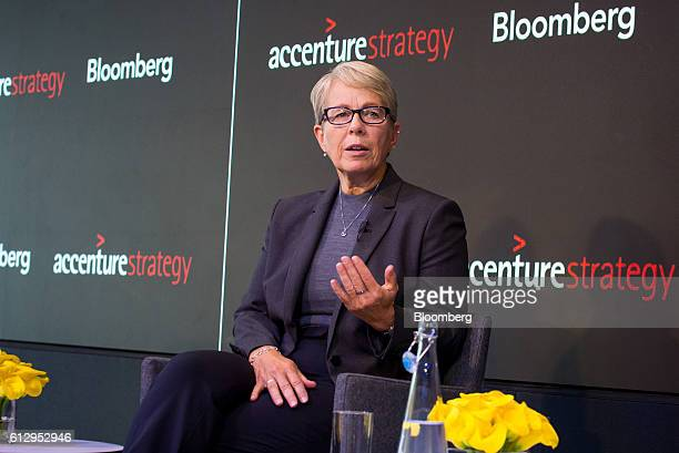 Jean Sweeney chief sustainability officer of 3M Co speaks during the Bloomberg Sustainable Business Summit in New York US on Thursday Oct 6 2016 The...