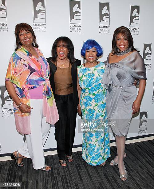 Jean Terrell Scherrie Payne Susaye Greene and Mary Wilson attend an evening with Mary Wilson of The Supremes at The GRAMMY Museum on June 24 2015 in...