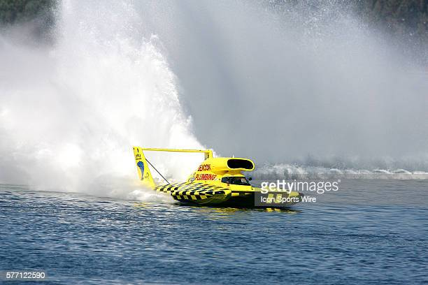 Jean Theoret at the San Diego Thunderboat Regatta Unlimited Hydroplane race on Mission Bay in San Diego CA USA