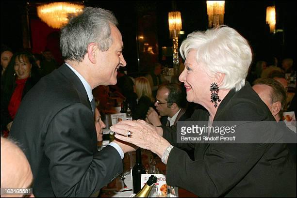Jean Tiberi and Line Renaud at Dalida TV Film Tribute To The Singer