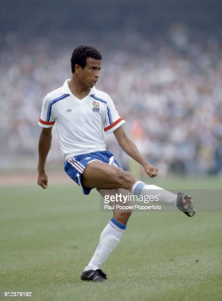Jean Tigana in action for France during the FIFA World Cup match between Italy and France at the Estadio Olympico Universitario in Mexico City 16th...