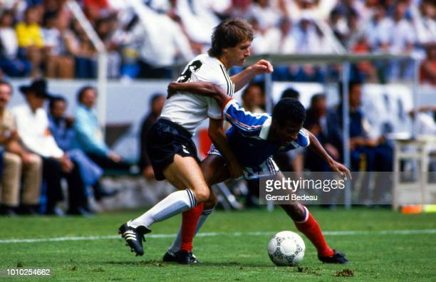 Jean Tigana of France during the World Cup semi final match between West Germany FRG and France played in Guadalajara Mexico on june 25th 1986