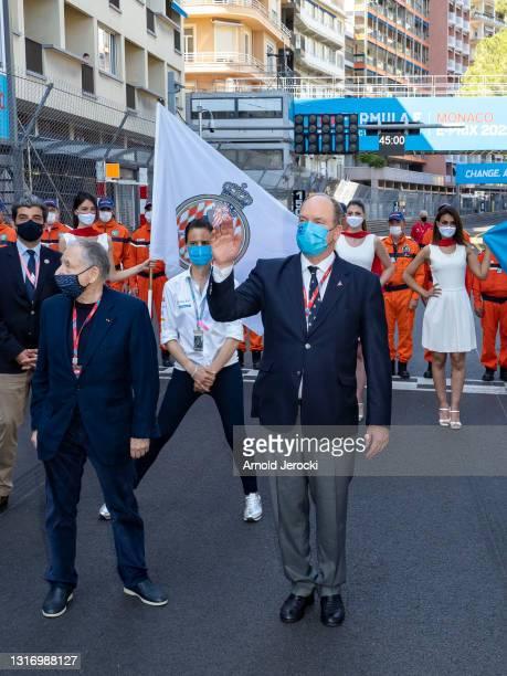 Jean Todt and HSH Prince Albert II of Monaco attends the ABB FIA Formula E Monaco E-Prix on May 08, 2021 in Monaco, Monaco.