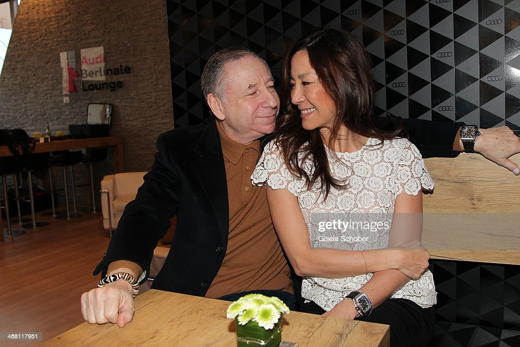 Jean Todt and Michelle Yeoh attend the AUDI Lounge at the Marlene Dietrich Platz during day 4 of the Berlinale International Film Festival on on February 9, 2014 in Berlin, Germany.
