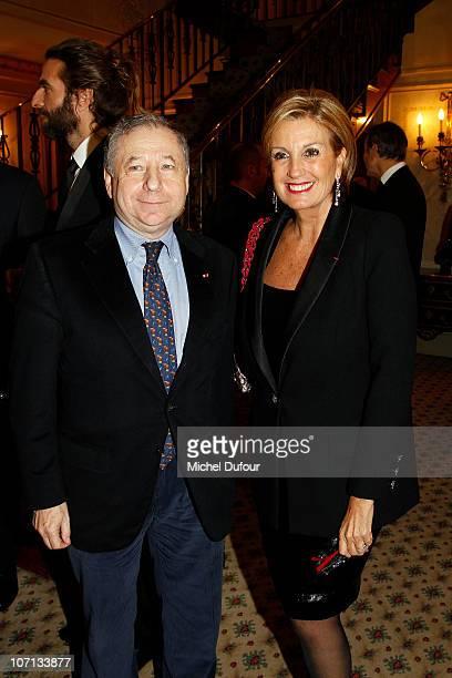 Jean Todt and Valerie Werteimer attend the Action Innocence auction and dinner of 'Nounours de Createurs' at Pavillon Ledoyen on November 24 2010 in...