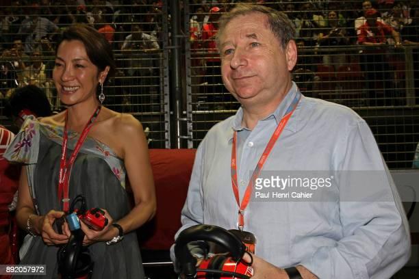 Jean Todt Michele Yeoh Grand Prix of Singapore Marina Bay Street Circuit 28 September 2008