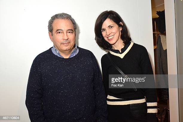 Jean Touitou and fashion designer Vanessa Seward attend the APC Menswear Fall/Winter 20152016 show as part of Paris Fashion Week on January 24 2015...