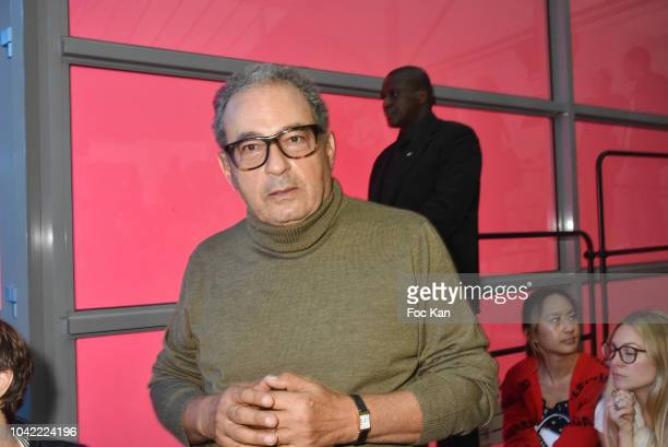 Jean Touitou from APC attends the Off White show as part of Paris Fashion Week Womenswear Spring/Summer 2019 on September 27 2018 in Paris France