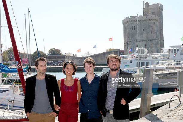 Jean Toussaint Bernard Chloe Lambert Baptiste Cosson and Thierry Godard attend the Jury Photocall as part of the 17th Festival of TV Fiction on...