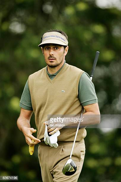 Jean Van de Velde of France during the second round of the Madeira Island Open held on April 8 2005 at the Santo da Serra Golf Club in Santa Cruz...