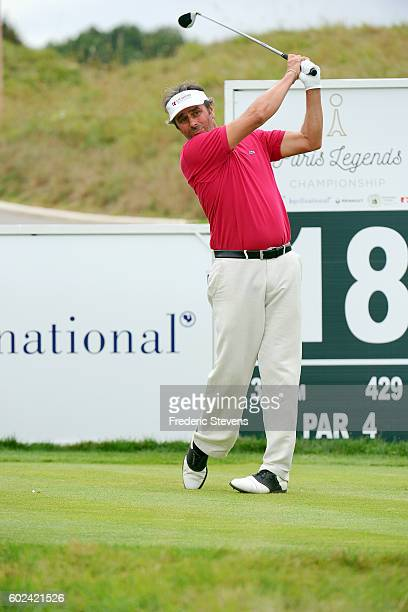 Jean Van De Velde of France in action during the final round of the Paris Legends Championship played on L'Albatros Course at Le Golf National on...