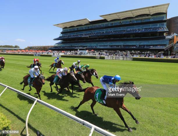 Jean Van Overmeire on Mate Story wins race 1 on Apollo Stakes Day at Royal Randwick Racecourse on February 17 2018 in Sydney Australia