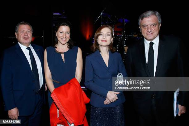Jean Veil French Health Minister Agnes Buzyn Isabelle Huppert and CEO Dior Sidney Toledano attend the Gala evening of the PasteurWeizmann Council in...