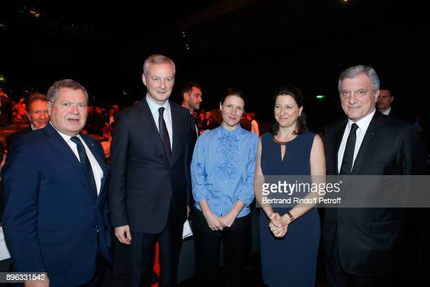 Jean Veil French Minister of Economy and Finance Bruno Le Maire his wife Pauline Doussau de Bazignan French Health Minister Agnes Buzyn and CEO of...