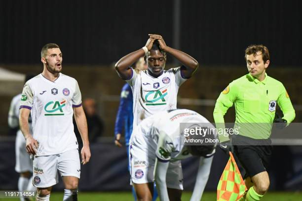Jean Victor MAKENGO of Toulouse looks dejected during the French Cup match between Saint Pryve Saint Hilaire FC and Toulouse on January 4, 2020 in...